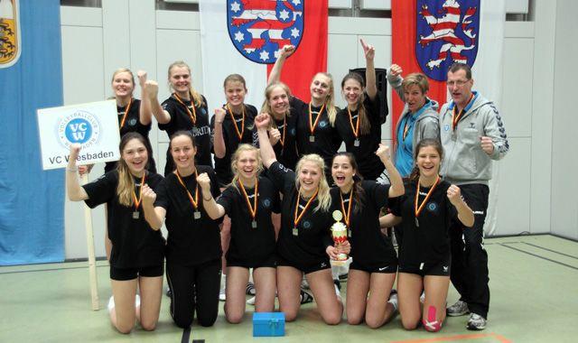 Die U18-Mannschaft des VC Wiesbaden wird Deutscher Vizemeister - Foto: Nicole Fetting