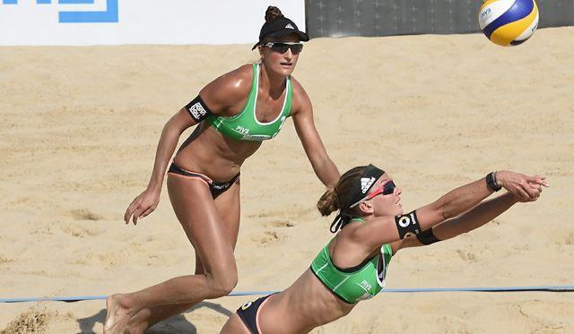 Beachvolleyball-Nationalteam Holtwick/Semmler bei den World Tour-Open in Puerto - Foto: FiVB