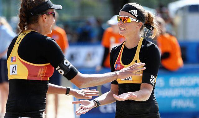 Beachvolleyball-Nationalteam Holtwick/Semmler beendet die Titelkämpfe in Klagenfurt wieder mit einer einstelligen Platzierung - Foto: CEV/www.eventolive.it