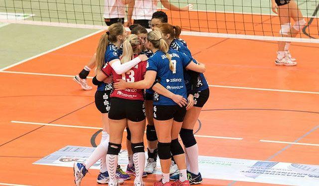 Einzug ins DVV-Pokal Viertelfinale nach 3:2 Sieg in Potsdam - Foto: Stephan Roßteuscher, Verein