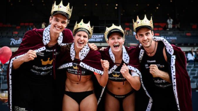 """Laboureur/Schulz und Thole/Wickler sind die ersten deutschen """"King of the Court"""" Champions - Foto: Conny Kurth"""