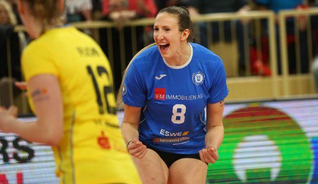 Beginn verschlafen, dann souverän gewonnen: VCW holt in Münster weitere Punkte im Kampf um Playoffs - Foto: Detlef Gottwald