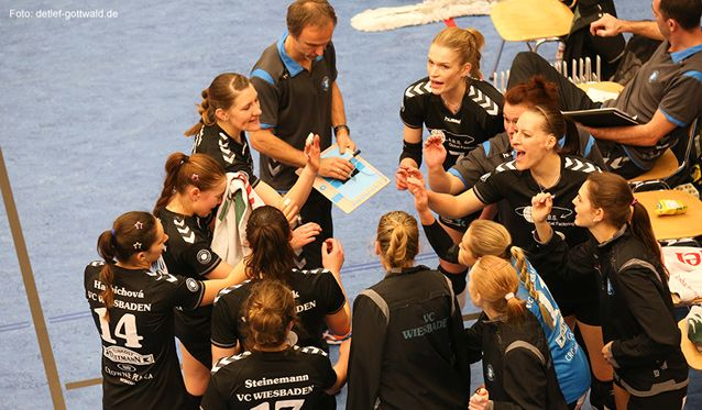 VC Wiesbaden: Auch in Aachen bei kampfstarken Ladies in Black die starke Auswärtsserie fortsetzen - Foto: Detlef Gottwald