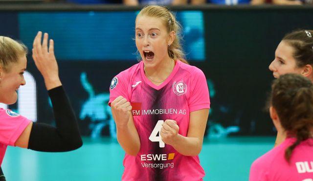 "3:2: VCW gewinnt ""Volleyball-Krimi"" gegen den USC Münster - Foto: VC Wiesbaden"