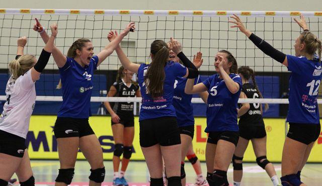 Volleyball-Team Hamburg feiert Sieg der Moral  - Foto: VTH/Lehmann