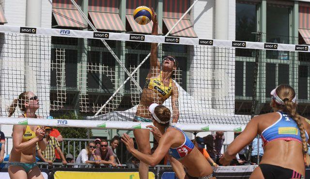 Hamburg Major: Zwei Frauen-Duos Gruppensieger - Noch keine Entscheidung im Olympia-Rennen - Foto: FiVB