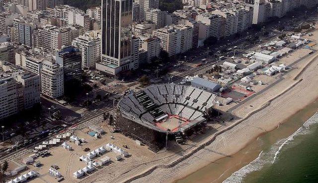 Beach-Volleyball Stadion bereit - Foto: FiVB