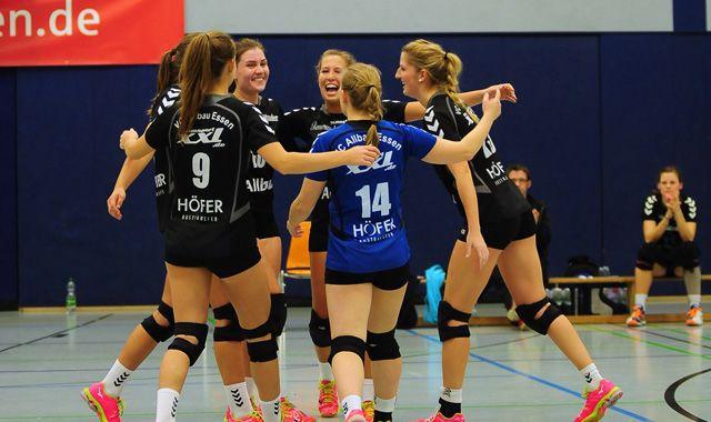 VC Allbau Essen weiter Tabellenführer. 3:1 Heimsieg gegen SC Union Lüdinghausen. - Foto: VCB
