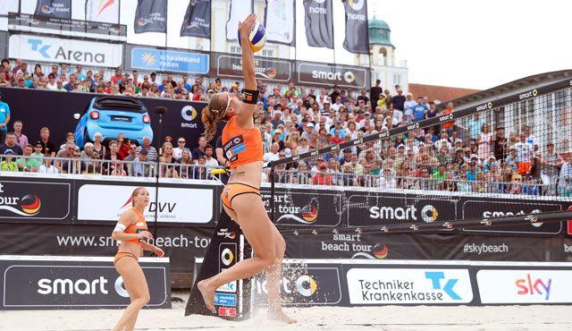 Warmspielen für die Deutsche Meisterschaft für NawaRo Beach-Team - Foto: hochzwei, smart beach tour