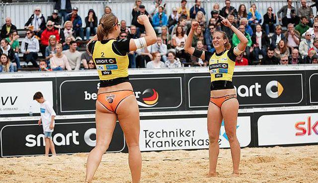 Zweiter Sieg beim zweiten Start in Bayern für NawaRo Beach-Team? - Foto: hochzwei.net, smart beach tour
