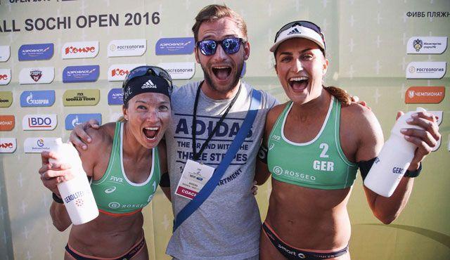 Beachvolleyball-Nationalteam Holtwick/Semmler sammelt wichtige Weltranglistenpunkte bei den Sotchi Open in Russland - Foto: FiVB