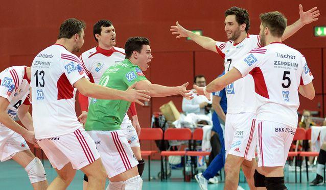 Friedrichshafen gewinnt das Rückspiel gegen Aich/Dob - Foto: Günter Kram
