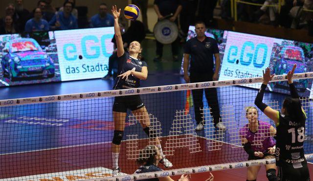 Niederlage in Aachen: Taylor Agost schlägt VCW - Foto: Detlef Gottwald
