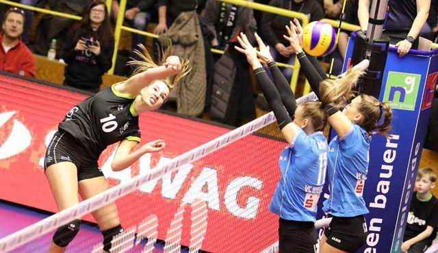 Ladies in Black und VC Wiesbaden stehen bereits im Playoff-Viertel-Finale - Foto: Ladies in Black Aachen\\ Fotograf-Aachen.de