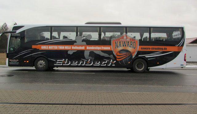 Näher dran geht nicht - Derby-Fahrt mit NawaRo im Team-Bus - Foto: Beschriftungscenter Füchsl