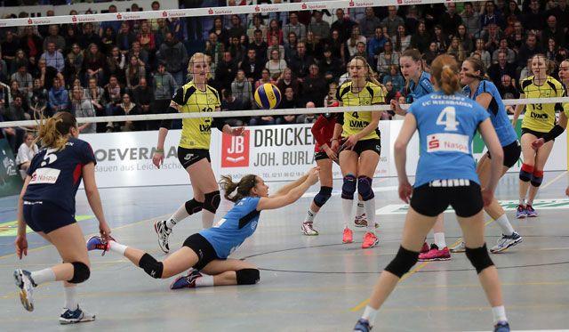 VCW unterliegt Münster in Playoff-Showdown: Wiesbadens Volleyballerinnen beenden Saison auf Platz 5 - Foto: Detlef Gottwald