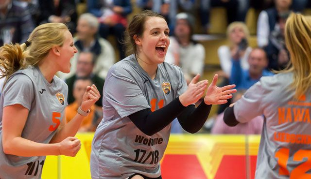 Straubings Volleyball Bundesligist beweist Nervenstärke und sieg 3:2 - Foto: Schindler
