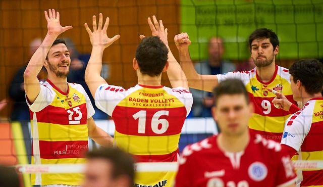Souveräner Heimsieg für die BADEN VOLLEYS SSC Karlsruhe  - Foto: Andreas Arndt