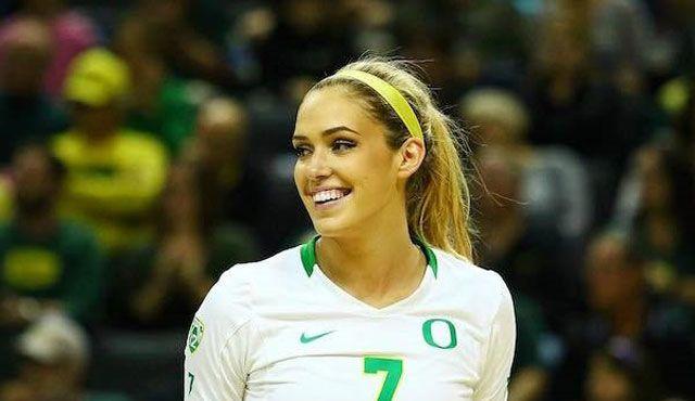 Starke US-Diagonalspielerin für die Ladies in Black Aachen - Fotos: University of Oregon