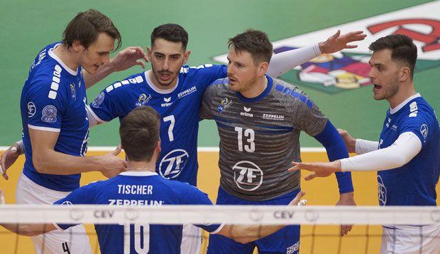 Friedrichshafen im Halbfinale gegen AlpenVolleys Haching - Foto: Günter Kram