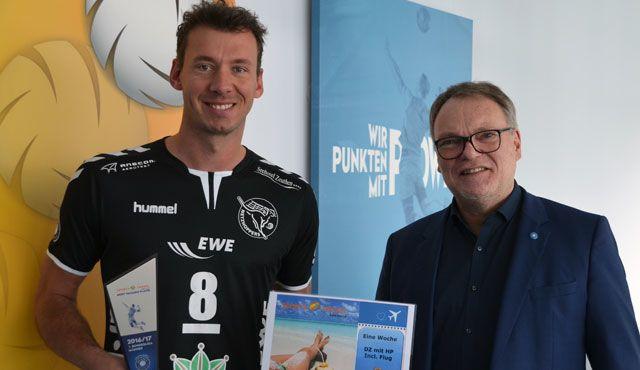 Björn Andrae als Sports&Travel MVP geehrt - Foto: VBL