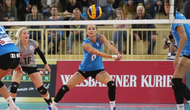 VC Wiesbaden gegen SC Bad Laer: ungleiche Vorbereitung für das Pokalachtelfinale - Foto: Detlef Gottwlad