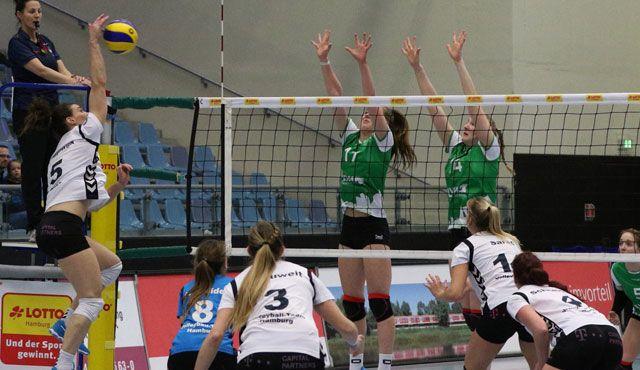 Das Volleyball-Team Hamburg verliert gegen den USC Münster II - Foto: VTH/Lehmann