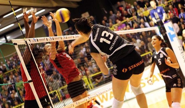 Glatter Erfolg für die Ladies in Black beim 3:0 gegen Vilsbiburg - Foto: Ladies in Black Aachen