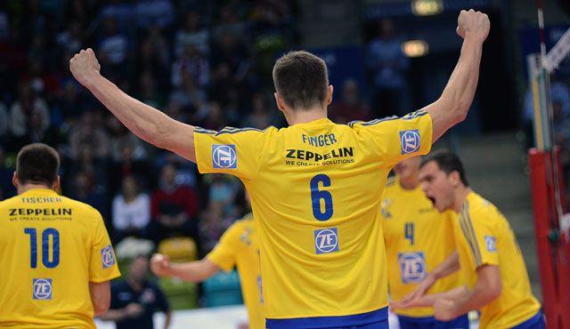 Friedrichshafen bezwingt United Volleys - Foto: Gesa Katz