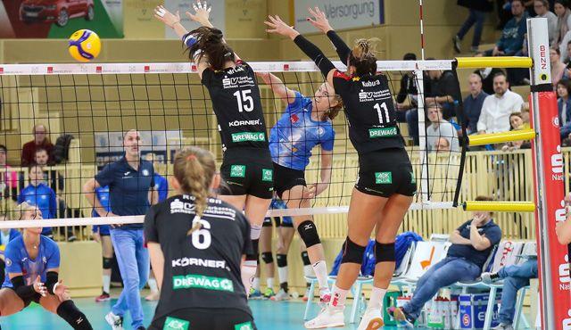 VCW unterliegt Dresden in einem hochklassigen Match 1:3 - Foto: VC Wiesbaden