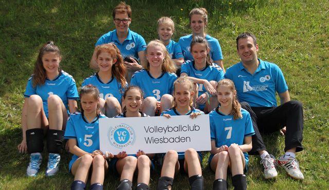 VCW-U14 zufrieden mit der Leistung bei der Deutschen Meisterschaft in Dresden - Foto: VC Wiesbaden