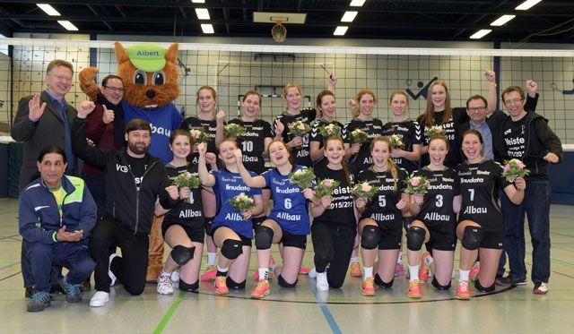 VC Allbau Essen  - Meisterschaft bestätigt! Tolle Stimmung bei der Meisterfeier! - Foto: VC Allbau Essen