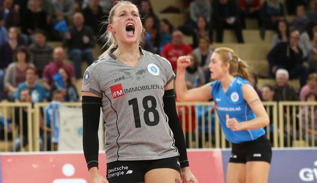 VC Wiesbaden erreicht das Halbfinale im DVV-Pokal - Foto: Detlef Gottwald
