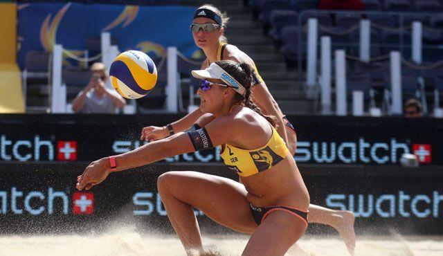 Beachvolleyball-Nationalteam Holtwick/Semmler will beim Stopp der World Tour im polnischen Olsztyn wieder angreifen - Foto: HochZwei/Joern Pollux