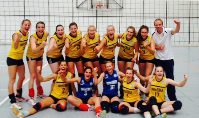 Frauenteam der DSHS Köln ist Deutscher Hochschulmeister 2015 im Volleyball - Foto: DSHS Köln