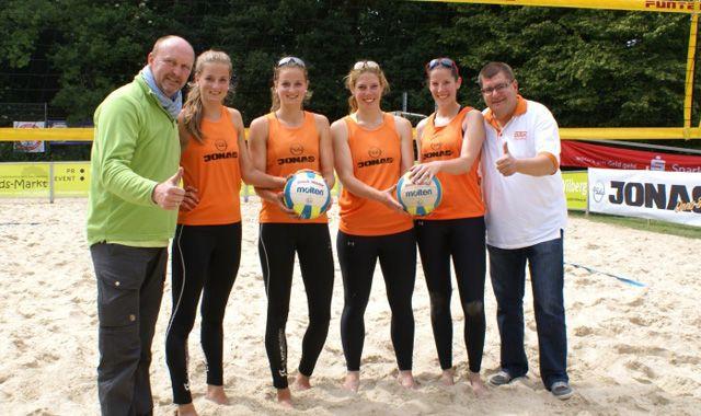 Verdiente Sieger beim DAK-Beach-Cup - Foto: p:e:w
