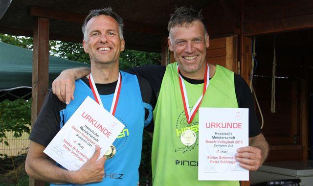 Rodheimer Beachvolleyballer gewinnen Hessenmeistertitel Ü41 der Senioren - Foto: SG Rodheim