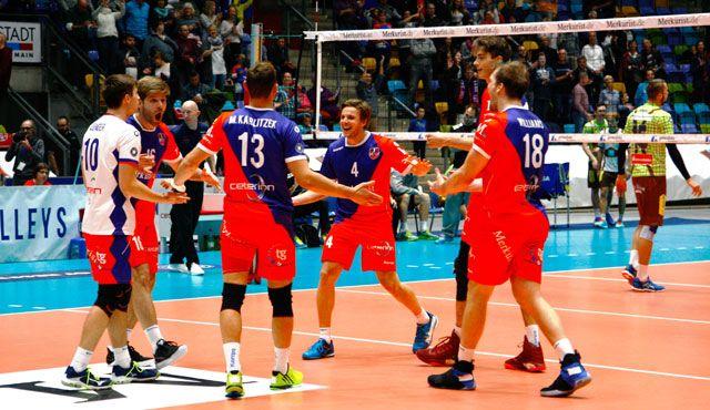 TV-Übertragung als Extra-Motivation - Foto: United Volleys/Heinz Mösinger