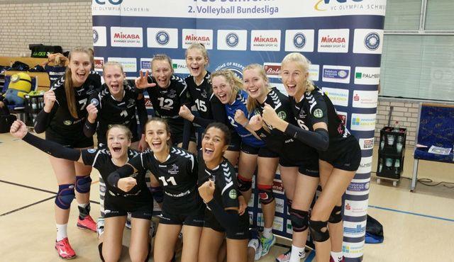 Volleyball-Team Hamburg löst Pflichtaufgabe in Schwerin souverän - Foto: VTH Lehmann