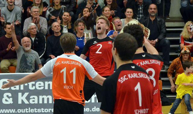 Zweiter Heimsieg für die Drittliga-Volleyballer des SSC Karlsruhe - Foto: SSC Karlsruhe