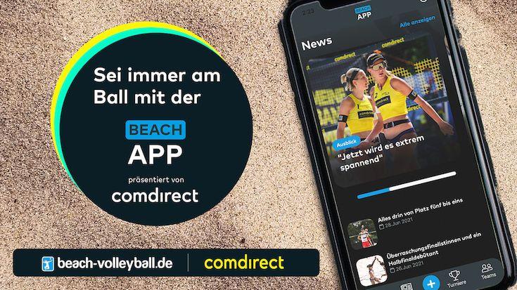 Immer auf Ballhöhe: comdirect und beach-volleyball.de starten App für die Beach-Volleyball Community - Grafik: Apollo18