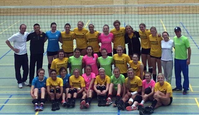 DSHS SnowTrex Köln mit Freundschaftsspiel gegen die University of Iowa - Foto: Britt/Iowa