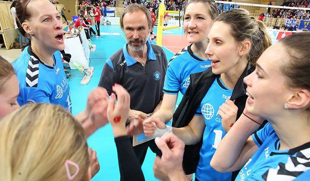 VC Wiesbaden: Mit Selbstvertrauen ins entscheidende Halbfinalspiel gegen Dresdner SC - Foto: Detlef Gottwald