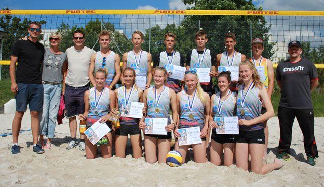 Favoritensiege bei den Bayerischen Beachvolleyball Meisterschaften der Altersklasse U17 - Foto: Durbek