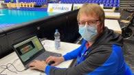 Scout Timo Meßmer erfasst jeden Spielzug mit der Data Volley-Software Foto: Gunthild Schulte-Hoppe