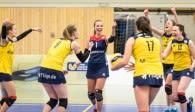 Auf ihre Abwehrkünste können sich die Fans vom Team DSHS SnowTrex Köln freuen: Libera Isabelle Liebchen (Mitte) wird auch in der kommenden Saison für Köln auflaufen Foto: Martin Miseré