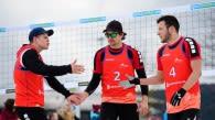 Max Pähler, Marko Sudy und Peter Nogueira Schmid haben bei der Snow-DM ein Team gebildet. Foto: Conny Kurth