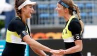 Ilka Semmler (links) und Katrin Holtwick erreichten Platz fünf bei der Europameisterschaft Foto: CEV/www.eventolive.it
