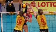 Die MVP des Spiels, Renate Bjerland im Angriff. Foto: Detlef Gottwald