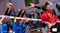 Das DVV-Pokalfinale mit Schwerin, Potsdam, KW-Bestensee und Frankfurt am Sonntag live ab 14:15 Uhr auf SPORT1 im Free-TV  Foto: Imago images